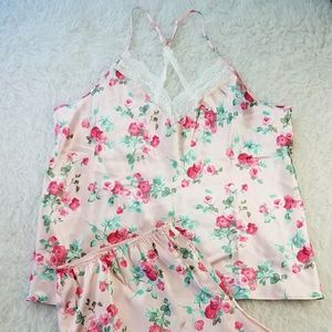 NEW Women's plus size XXL 2pc pink floral pajamas